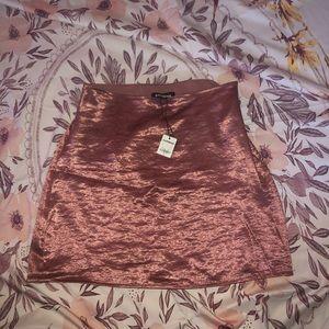 Express size 2 satin mini skirt
